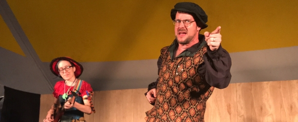 "Performing ""I'm Hunchbacked"" with Bird the Bard at Drake's 2017 Pennsic concert."