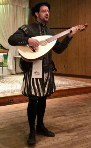 "Performing ""What if a day"" on Lute Guitar at King's & Queen's Bardic Champions in 2018."
