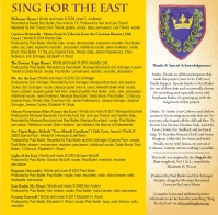 Sing for the East - Liner Notes
